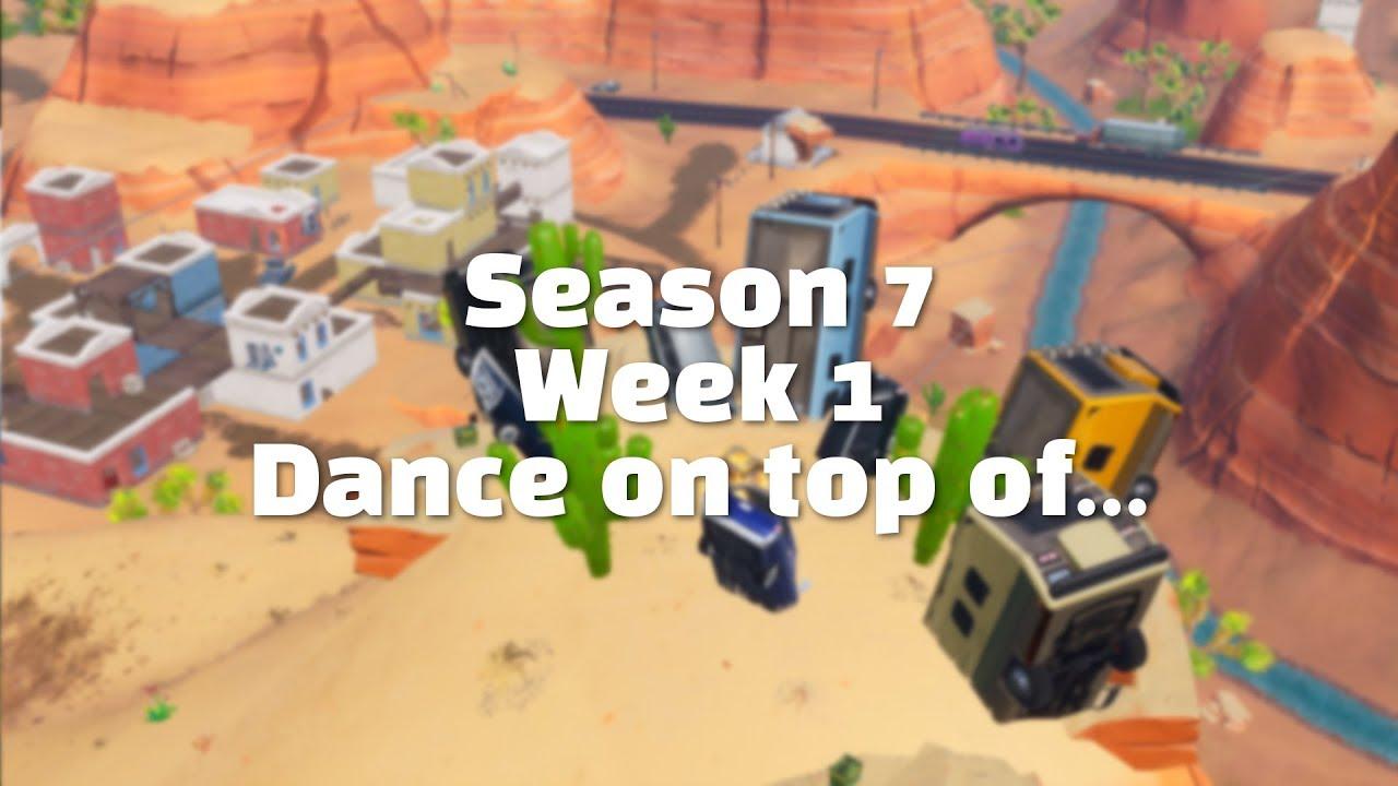 Season 7 Week 1 Dance On Top Of A Crown Of Rv S Fortnite
