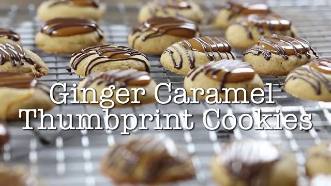 Ginger Caramel Thumbprint Cookies | Jelly Toast - YouTube