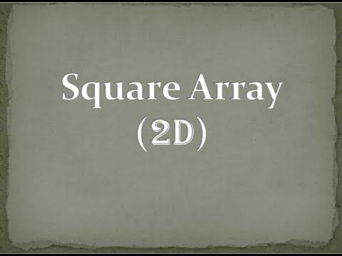 Square Array(2D)