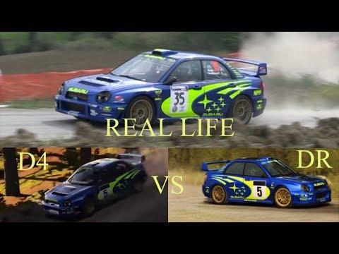 DIRT 4 vs DIRT RALLY vs Real Life / Sound comparison (Subaru Impreza WRC 2001)