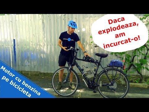 Motor cu benzina pe bicicleta - MONUMENTAL!