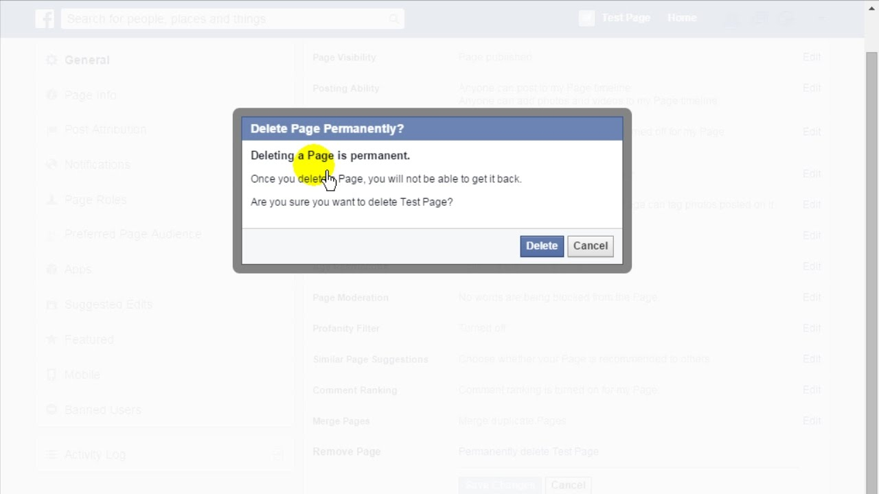 How to delete facebook page permanently 2015 youtube how to delete facebook page permanently 2015 ccuart Images