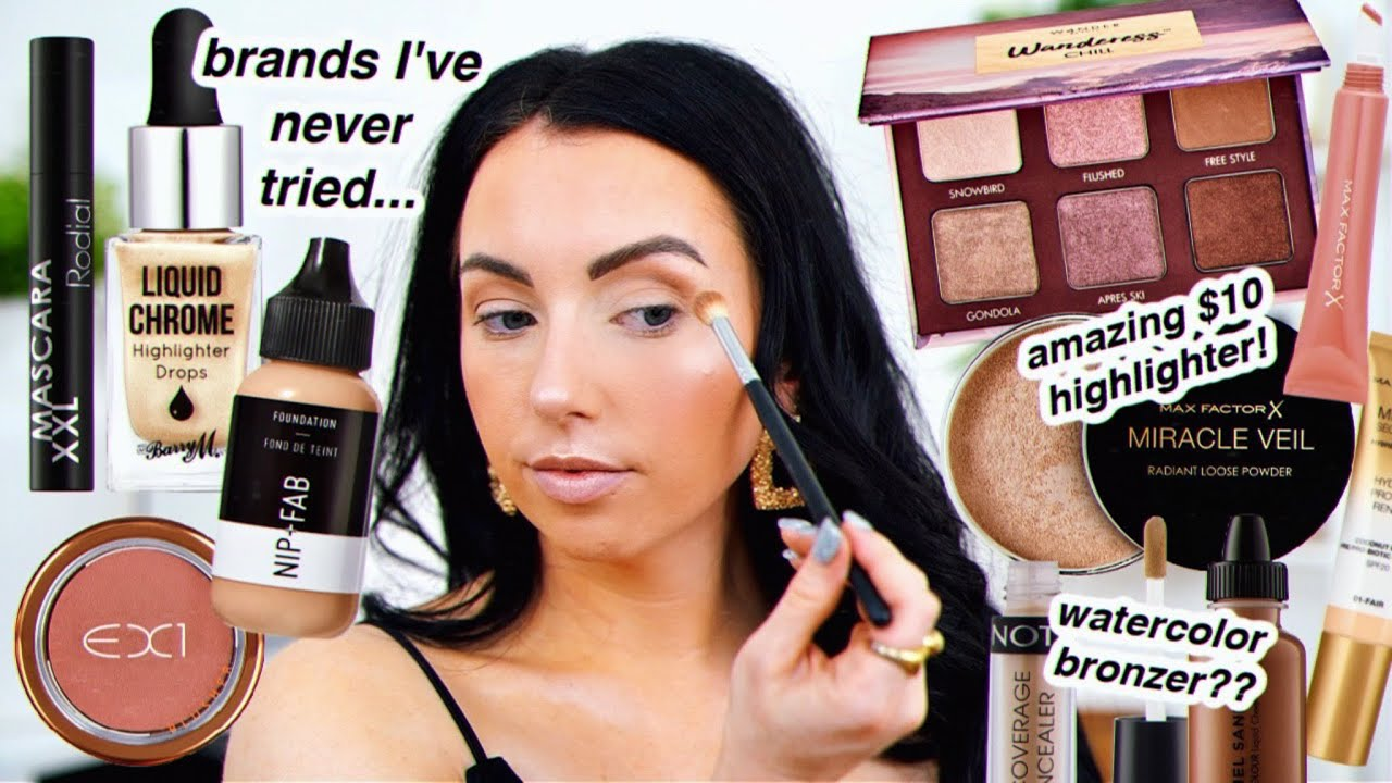 Brands I'VE NEVER TRIED! Tons of makeup FIRST IMPRESSIONS