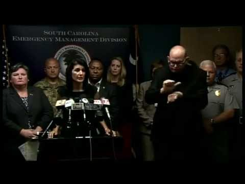 Hurricane Matthew - S.C. Gov. Nikki Haley holds briefing on storm preps