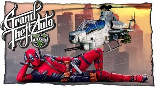 Дэдпул Украл Военный Вертолёт GTA 5 МОДЫ! Зомби Апокалипсис Видео Игра ГТА 5 Обзор Мода