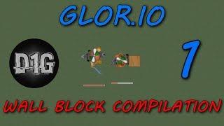GLOR.IO - TIPS AND TRICKS - WALL BLOCK KILL COMPILATION