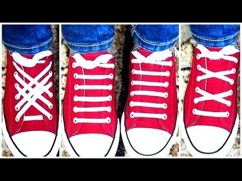3 ЛУЧШИХ СПОСОБА ЗАШНУРОВАТЬ ОБУВЬ★КАК Быстро ЗАВЯЗАТЬ ШНУРКИ за 1 минуту★TOP 3 Ways To Lace Shoes