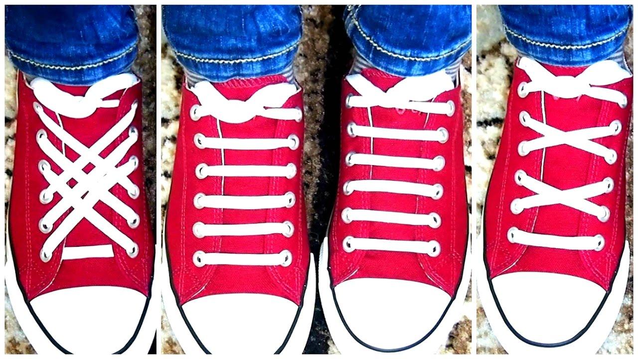 c9a99d17 3 ЛУЧШИХ СПОСОБА ЗАШНУРОВАТЬ ОБУВЬ☆КАК Быстро ЗАВЯЗАТЬ ШНУРКИ за 1  минуту☆TOP 3 Ways To Lace Shoes