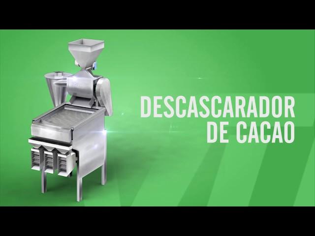 Descascaradora de cacao/ Clasificador de nibs | Cocoa beans Winnower / Nibs sorter - Vulcanotec