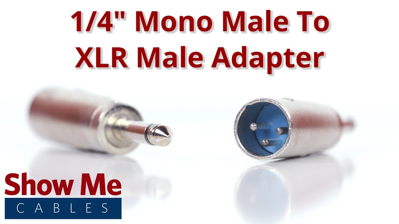 1 4 Inch Mono Male To Xlr Adapter 836 Youtube Wiring Diagram Trs 14