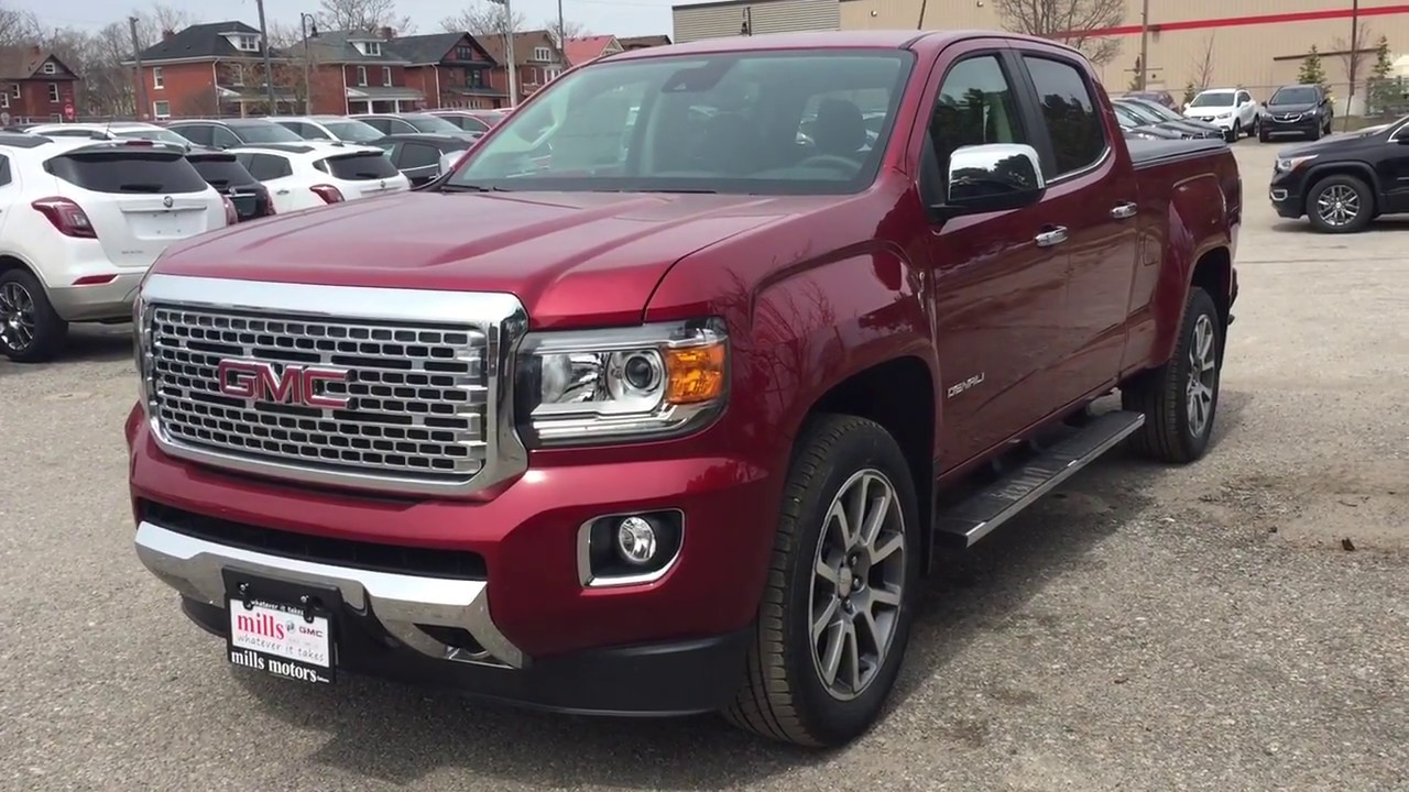 2018 Gmc Canyon 4wd Crew Cab Denali Heated And Cooled Seats Red