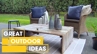 How To Transform A Door Into A Rustic Coffee Table | Outdoor  | Great Home Ideas