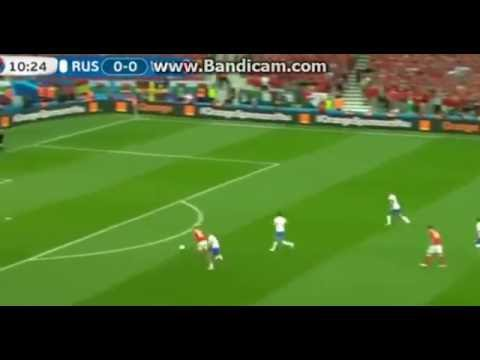First Goal By Aaron Ramsey Wales vs Russia
