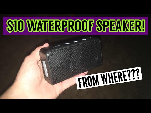 BEST $10 WATERPROOF SPEAKER EVER! (Where to buy your own!)