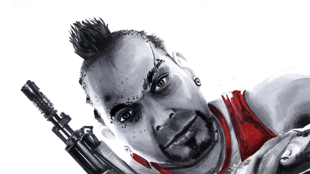 Far Cry 3: Vaas drawing by r3nd0s - YouTube