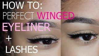 How to: Winged Eyeliner + False Lashes | Talk Through