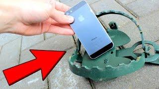 EXPERIMENT - BÄRENFALLE vs IPHONE! | Funktioniert es noch☞?
