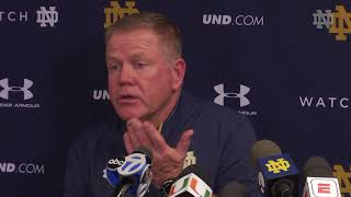 @NDFootball Brian Kelly Post-Game Press Conference - Miami (2017)