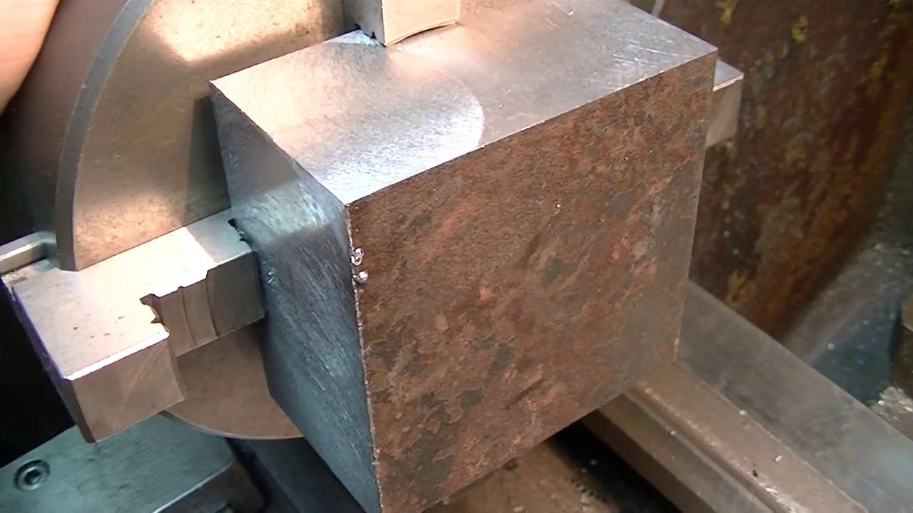 Tokarka jak ustawić nóż do planowania kwadratu  85 x 85 mm