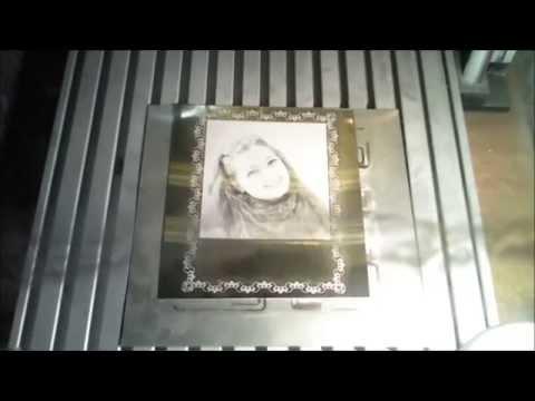 Sharplase лазерная фото-гравировка на анодированном алюминии