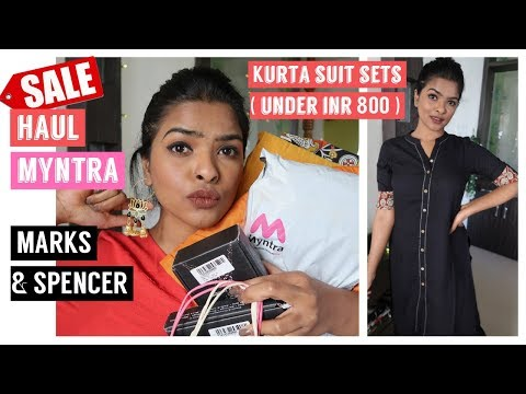 *SALE* Clothing Haul | Myntra Kurta Sets ( Under INR 800😱 ), Marks & Spencer, ONLY 💃🏻