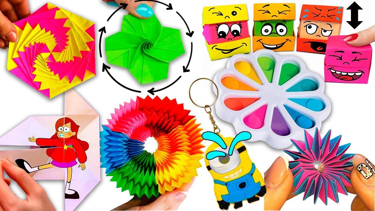 10 DIY paper fidget toys Ideas I 10 ИДЕЙ Антистресс игрушек-непосед из бумаги Своими руками