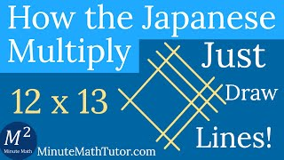 How the Japanese Multiply | Just Draw Lines! | Minute Math