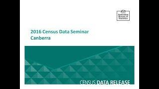 Canberra Census Data Seminar