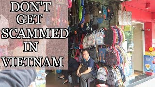 SCAMS IN VIETNAM TO AVOID | Shopping in the Old Quarter Hanoi Vietnam