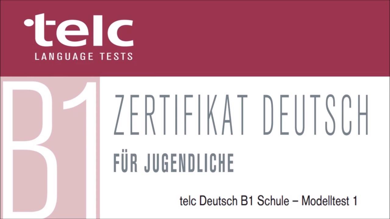 Telc B1 Zertifikat Deutsch Für Jugendliche Modelltest 1 Hören Teil