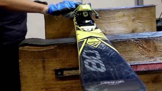 How to make an end season waxing of a ski ?