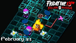 Friday the 13th: Killer Puzzle - Daily Death February 23 Walkthough (iOS, Android)