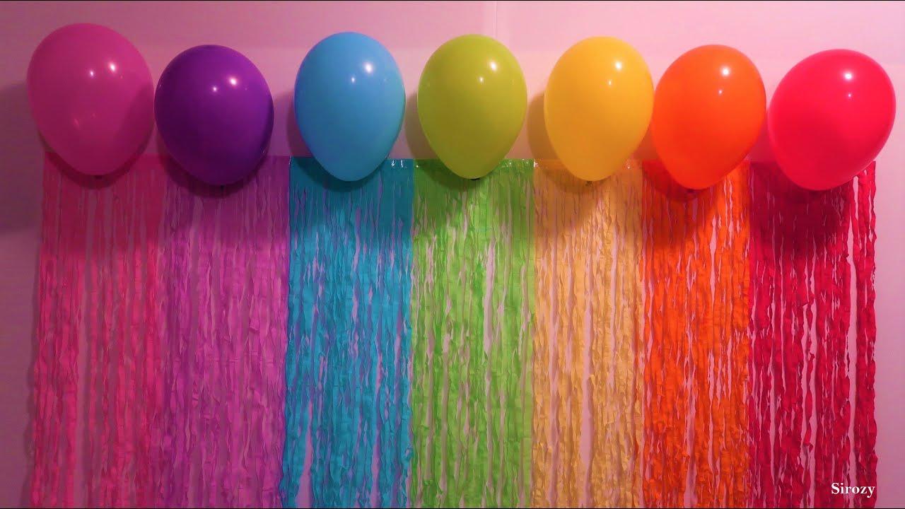 party curtain backdrop diy fringe