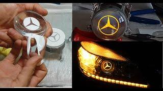 Mercedes C180 Logo Dizayn // Gündüz Ledi ve Kayar Sinyal Nasıl Yapılır