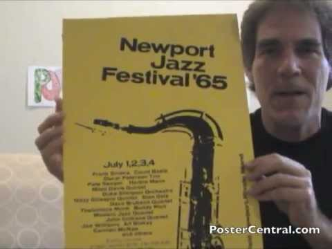 Newport Jazz Festival Concert Posters 1961-1965 Window Cards