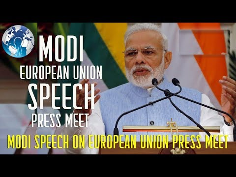 LIVE  Narendra Modi Speech Press Statement Visit of President of the European Council to India