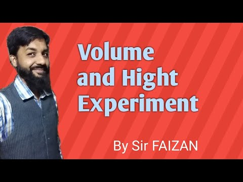 volume and height experiment