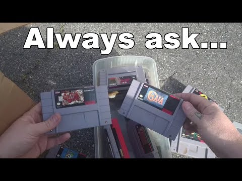 Live Flea Market/Yard Sales Video Game Hunting! Ep. 26 - Always Ask!! - Pickups!