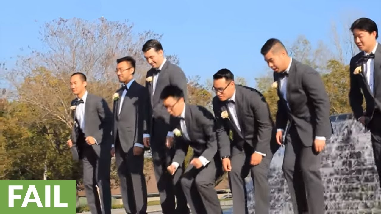 Groomsmen Photoshoot Ends In Epic Fail For Best Man