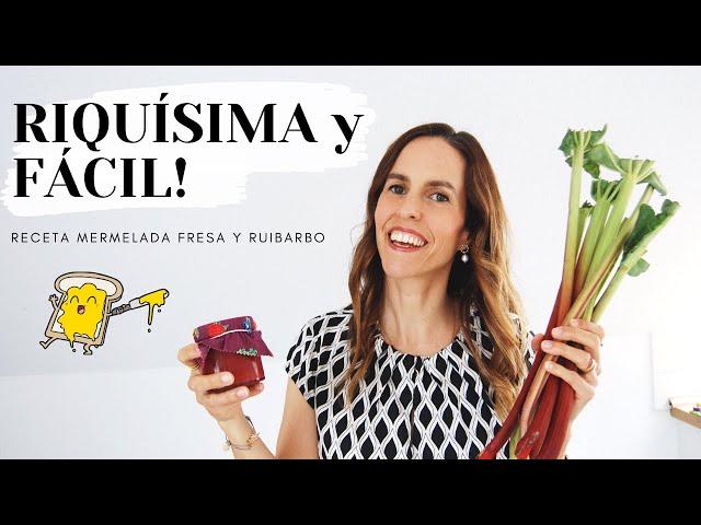 Receta MERMELADA casera de fresa y ruibarbo 🍓 Omas Rezept! 😋