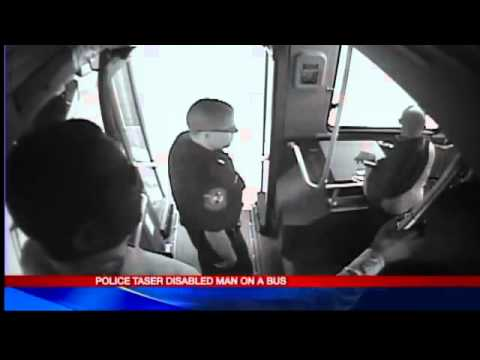 Syracuse police taser a disabled man for standing on a bus