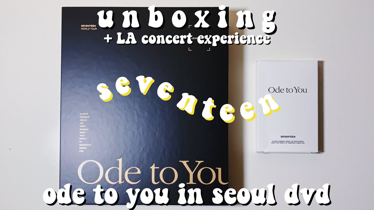 seventeen ode to you dvd
