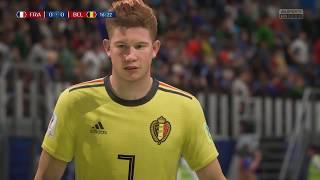 World Cup 2018 France vs Belgium - Semi Finals 2018 Full Match Sim (FIFA 18)