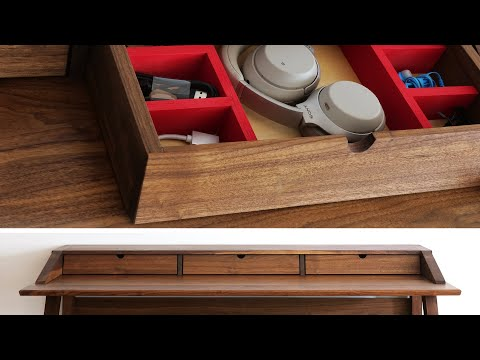 How To Build A Desk Part 3   Drawer Boxes for the Mid Century Modern Desk