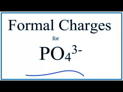 Calculating Po43 Formal Charges Formal Charges For The Phosphate Ion