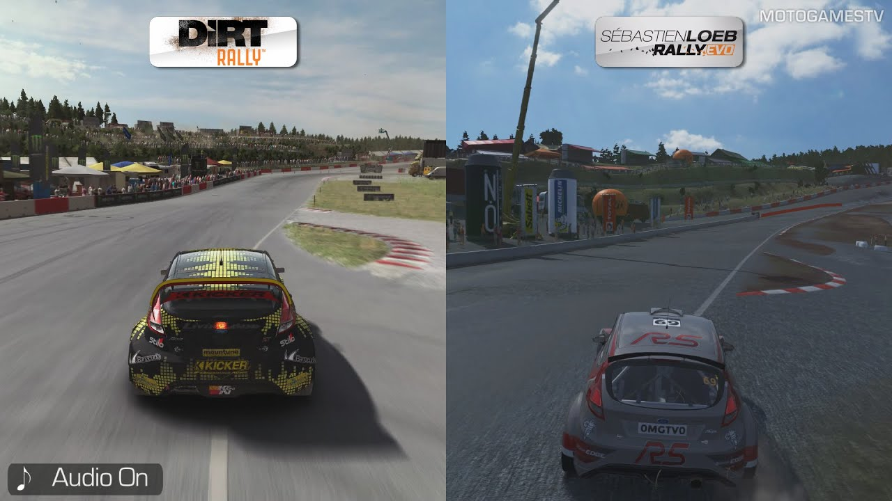 dirt rally vs sebastien loeb rally evo hell rallycross track comparison youtube. Black Bedroom Furniture Sets. Home Design Ideas