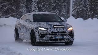 【スクープ動画】ランボルギーニ ウルスEVO、雪上を駆ける