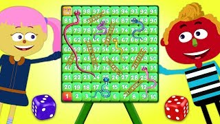 Board Game Challenge | Playing Giant Snakes and Ladders | Board Game For Kids By Teehee Town