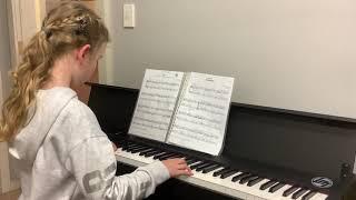 """Emily King performs """"Kanzonetta"""" on Piano"""