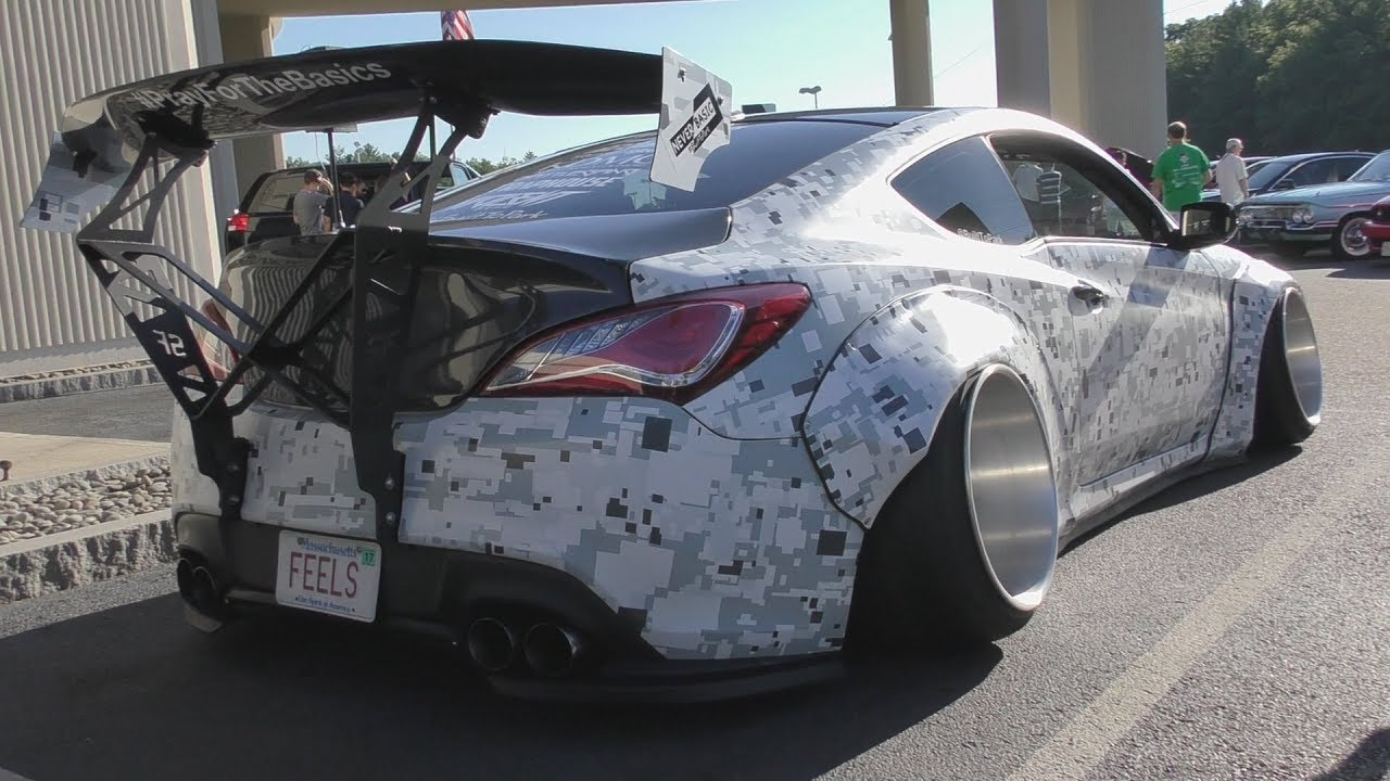 the craziest hyundai ever widebody bagged genesis coupe. Black Bedroom Furniture Sets. Home Design Ideas